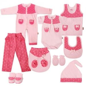 کل لباس نوزادی دخترانه