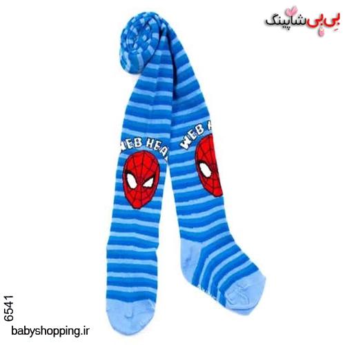 جوراب شلواری اسپایدرمن سایز 6 تا 8 سال