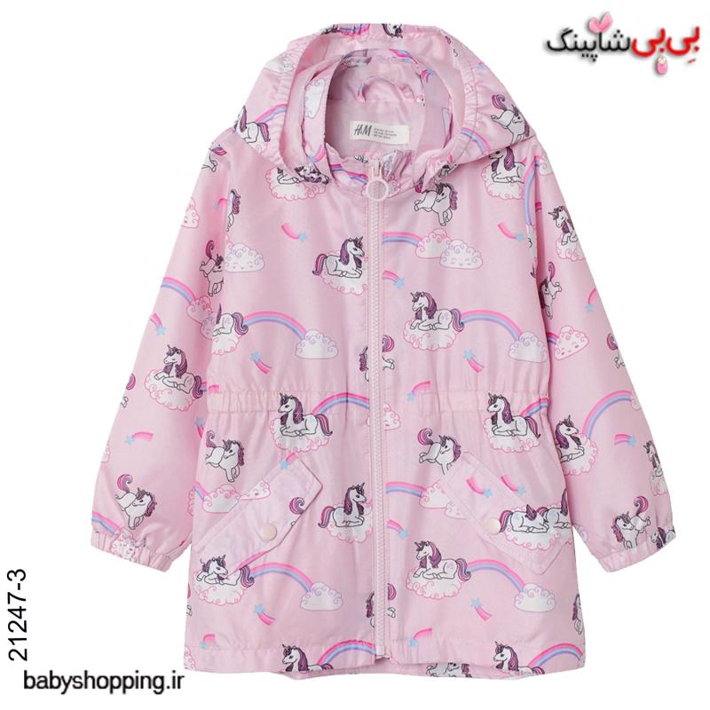 بارانی دخترانه  اچ اند ام H&M برند سوئد سایز 2 تا 10 سال