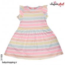 پیراهن دخترانه نوزادی مادرکر (Mothercare) انگلیس سایز 1 تا 3 ماه